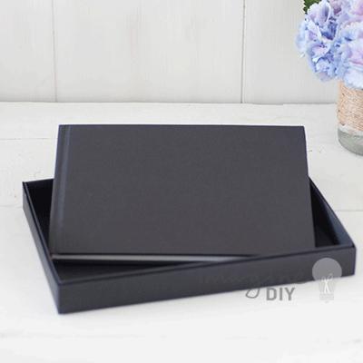 boxed guest book in black imagine diy
