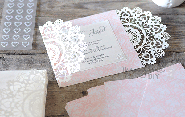 Enchante laser cut range in white imagine diy laser cuts black laser cut wedding invitation to decorate yourself laser cut wedding invitations with heart solutioingenieria Gallery