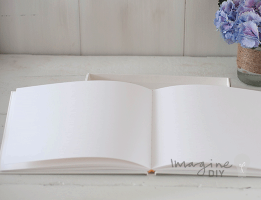Luxury Boxed Guest Book in Ivory - Imagine DIY