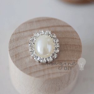 Pearl and Crystal Oval, Pearl and crystal oval shaped decoration for DIY wedding stationery and invitations. DIY wedding supplies