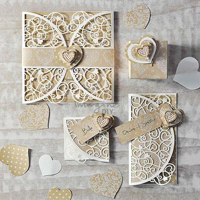 Heart Laser Cut Invitation venus, wedding, stationery, invitation, design, kraft, heart,