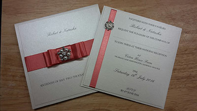 Hayley Clark March competition winner DIY wedding invitations