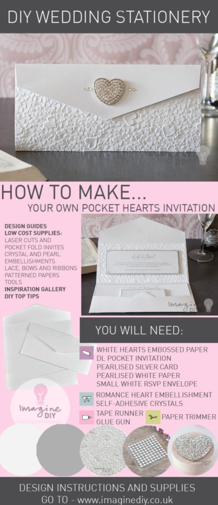 How to Make... Heart Embossed Pocket Invitation - Imagine DIY