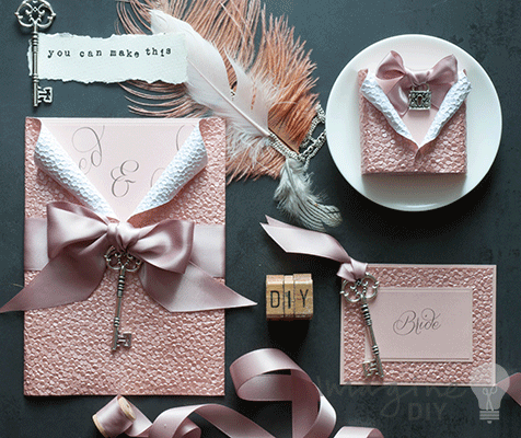 Luxury Blush Embossed Stationery