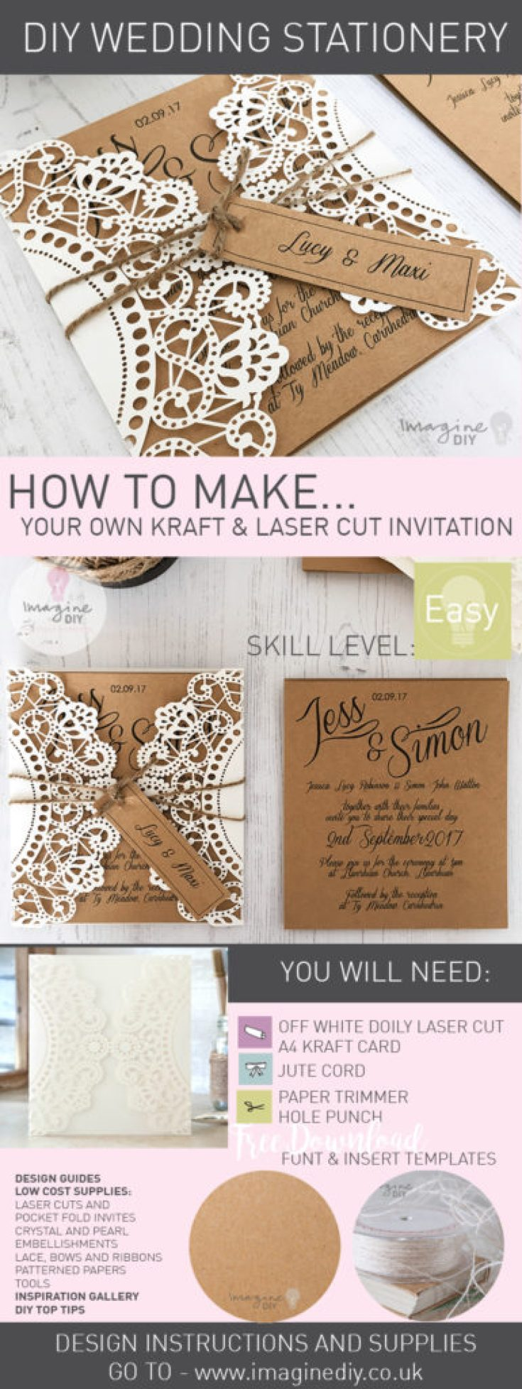 How To Make...Rustic Kraft and Laser Cut Invitation with Tag ...