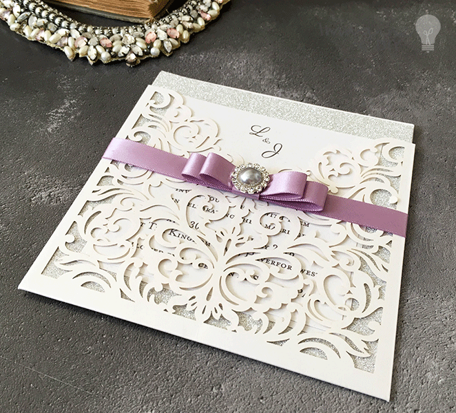 Wedding Invitations Make Your Own: How To Make ... Sparkling Laser Cut Wedding Stationery