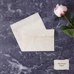 Handmade paper envelopes. C6 envelopes in white handmade paper
