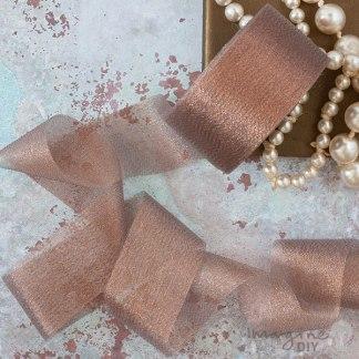 Rose Gold sparkle Ribbon 50mm - 25 Metre Roll