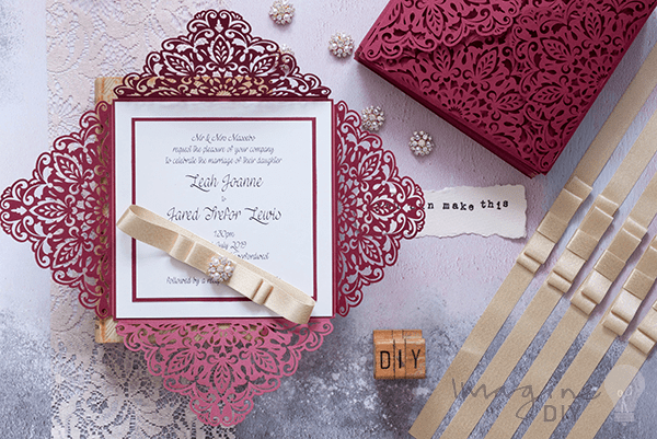 How Do You Make Your Own Wedding Invitations: Luxury Laser Cut Invitations In Burgundy And