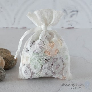 White Lida Favour Bag