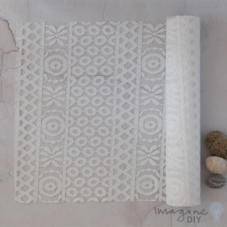 White Lida Table Runner - 2.5 Metre