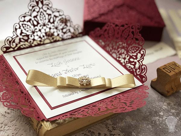 Design Your Own Laser Cut Wedding Invitations