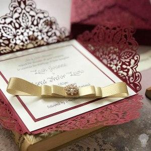 Wedding invitations gallery imagine diy diy laser cut invitation idea in wine red lace invitation to make yourself burgundy solutioingenieria Images