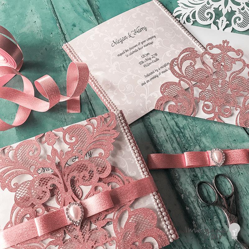 Making Wedding Invitations Ideas: Gorgeous Glitter Invitations