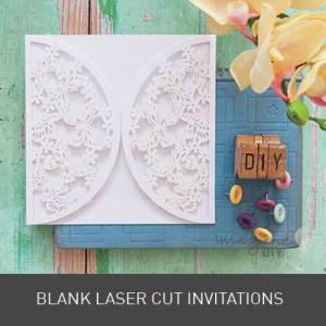 Blank laser cut wedding stationery. DIY wedding stationery supplies. Blank laser cut invitations