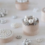 Pearl embellishments for wedding invitations and save the date cards.