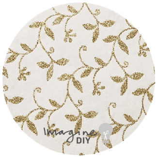 clematis recycled cotton paper in ivory with gold glitter. Glitter vine. Gold and Ivory glitter paper. DIY wedding stationery and craft supplies