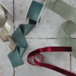 Ribbons for DIY wedding invitations and save the date cards.