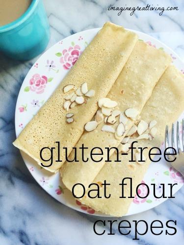 Oat Flour Crepes (gluten free)