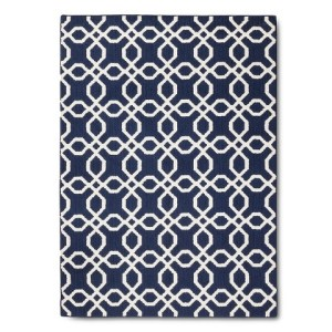 Threshold Trellis Rug - Navy Image