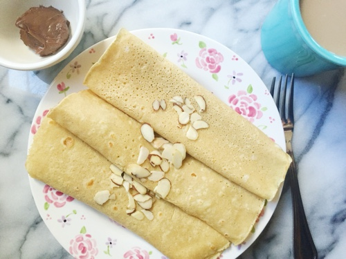 Gluten free oat flour crepes