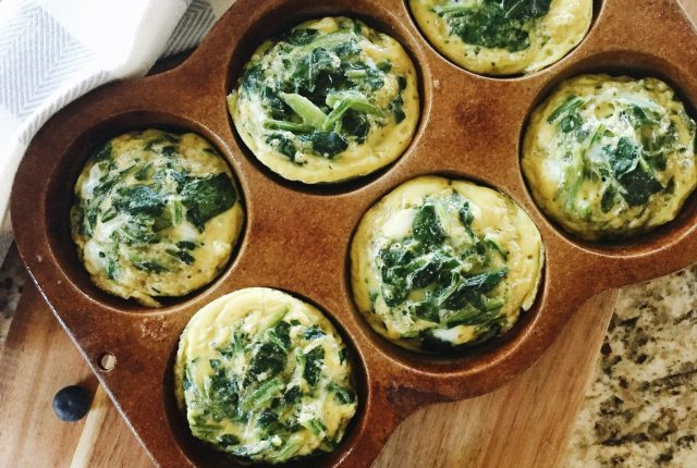 Mini Egg Frittatas with Spinach