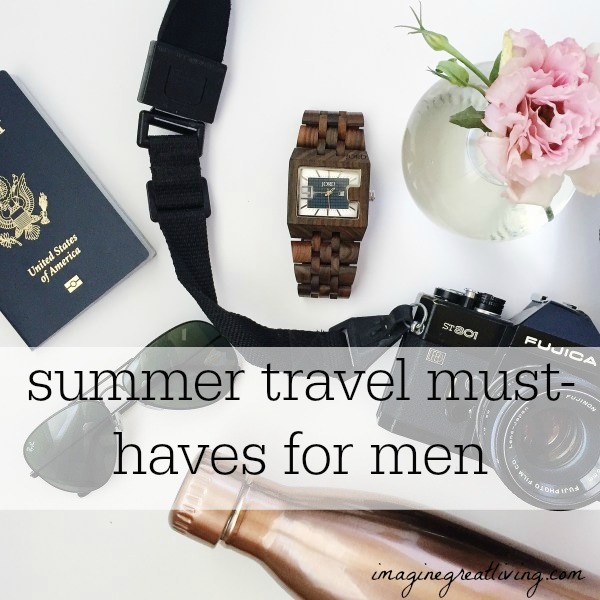 Summer travel must-haves for men + a jord #woodwatch giveaway