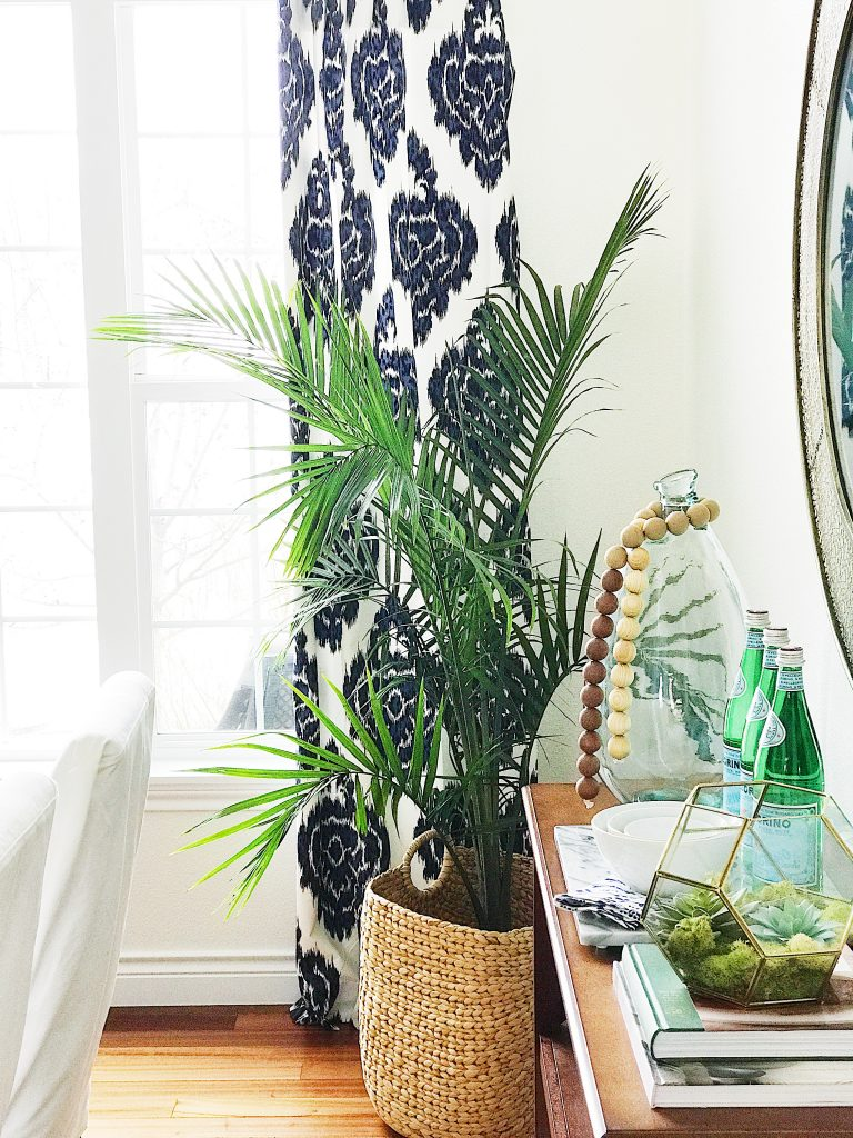 Spring Home Inspiration: Decorating with Navy Blue-ikat-print-curtains-overstock
