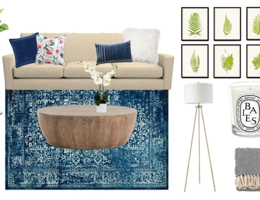 Mood Board Monday - A classic-modern living room