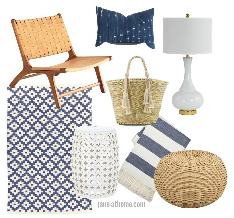 Favorite Finds with a Modern Coastal Vibe in Blue and White