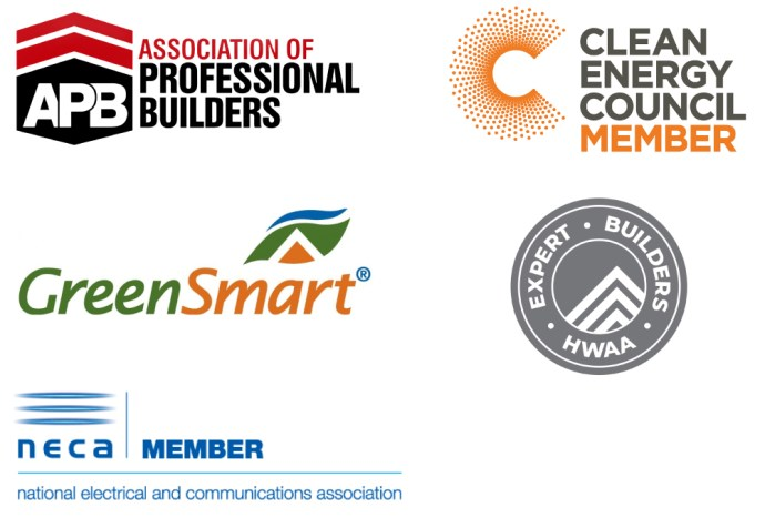 Association of Professional Builders GreenSmart NECA Clean Energy Council HWAA