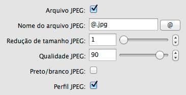 oitavo passo: lembre-se de ligar a opção <strong>Perfil JPG</strong> para que o espaço de cor escolhido seja anexado ao arquivo salvo