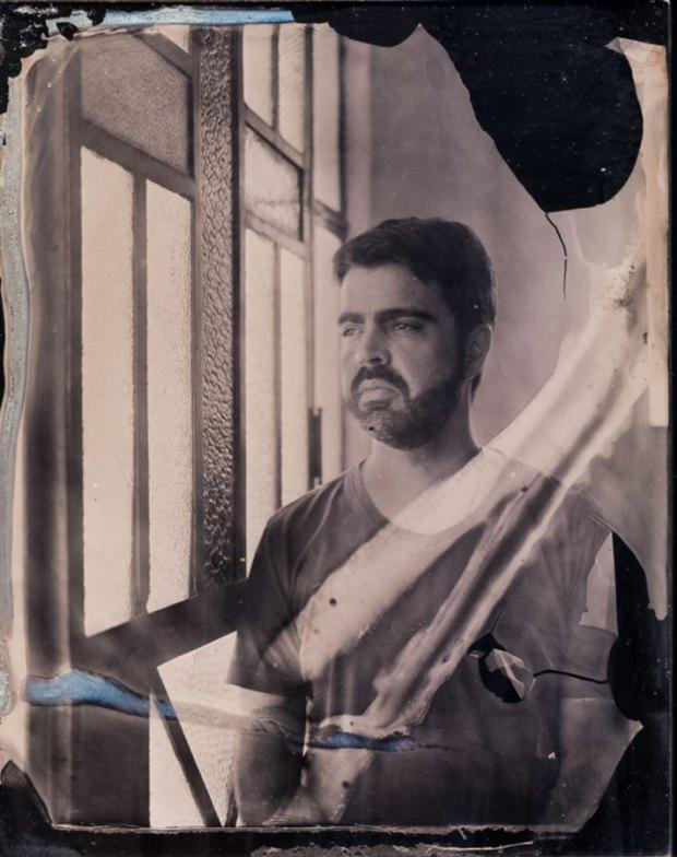 Luiz Marinho. Nazaré Paulista SP. Ambrótipo 12x16,5cm.