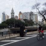 Minhocão de domingo é ótimo pra fotografar e andar de bicicleta!