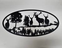 Bull Elk Metal Art Scene: Interior Wall Art  Imagine ...
