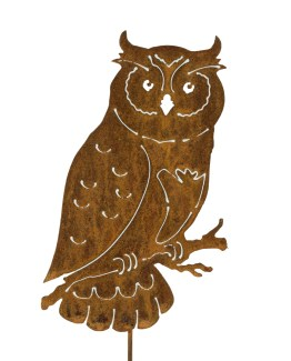 Metal owl statue