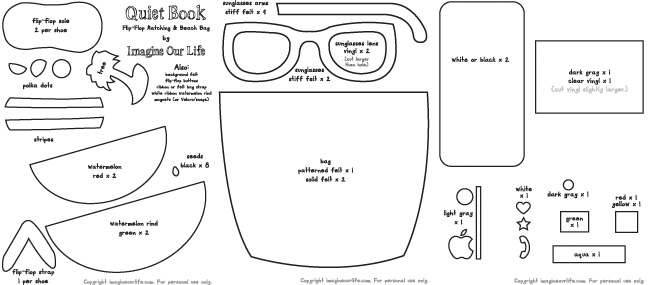 Free flip flop template coloring pages