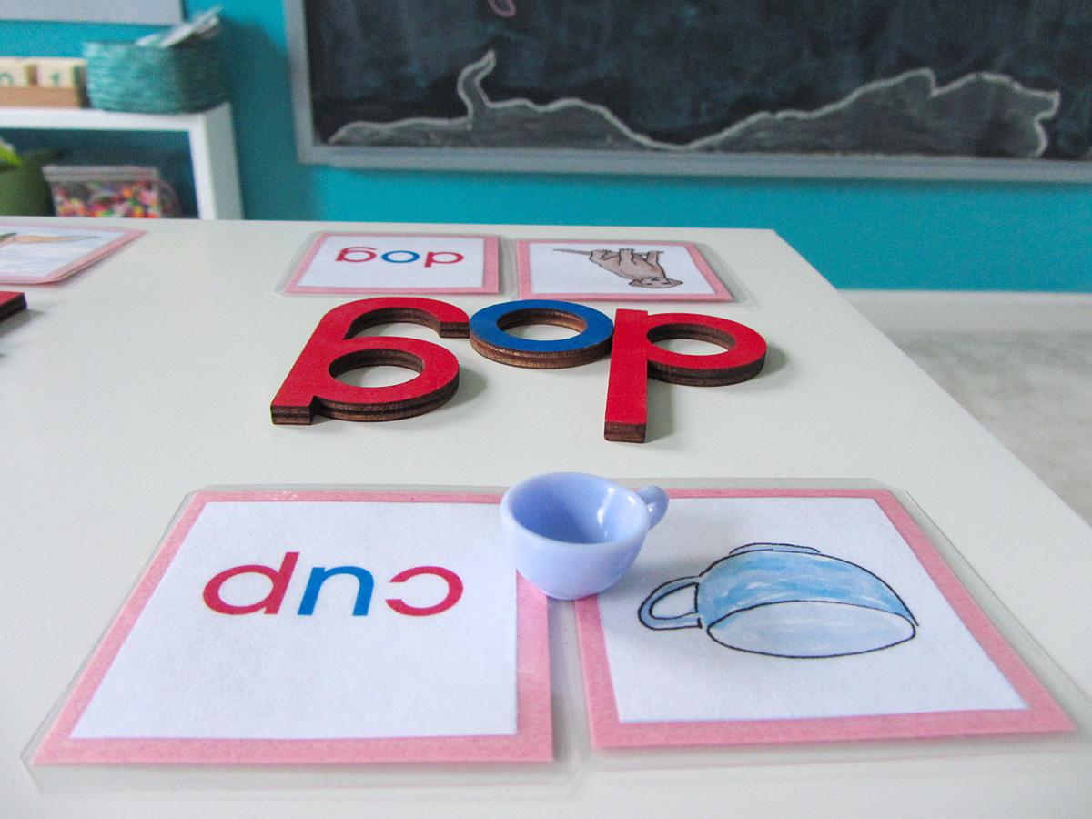 Montessori Cvc Word Match Printables
