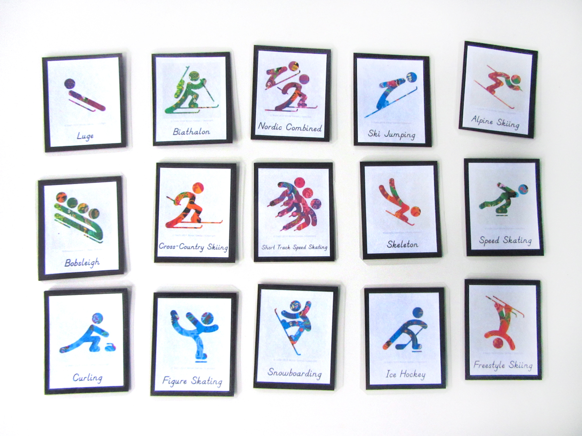 Winter Games Homeschool Printables