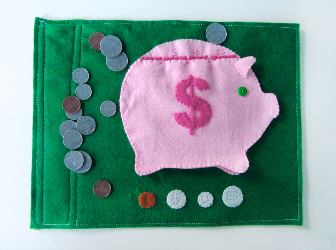 Piggy Bank Quietbook Pattern Amp Free Currency Printables