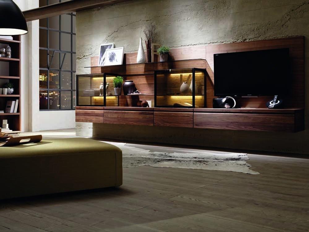 meuble tv design de luxe meuble tele hifi haut de gamme en noyer ou chene