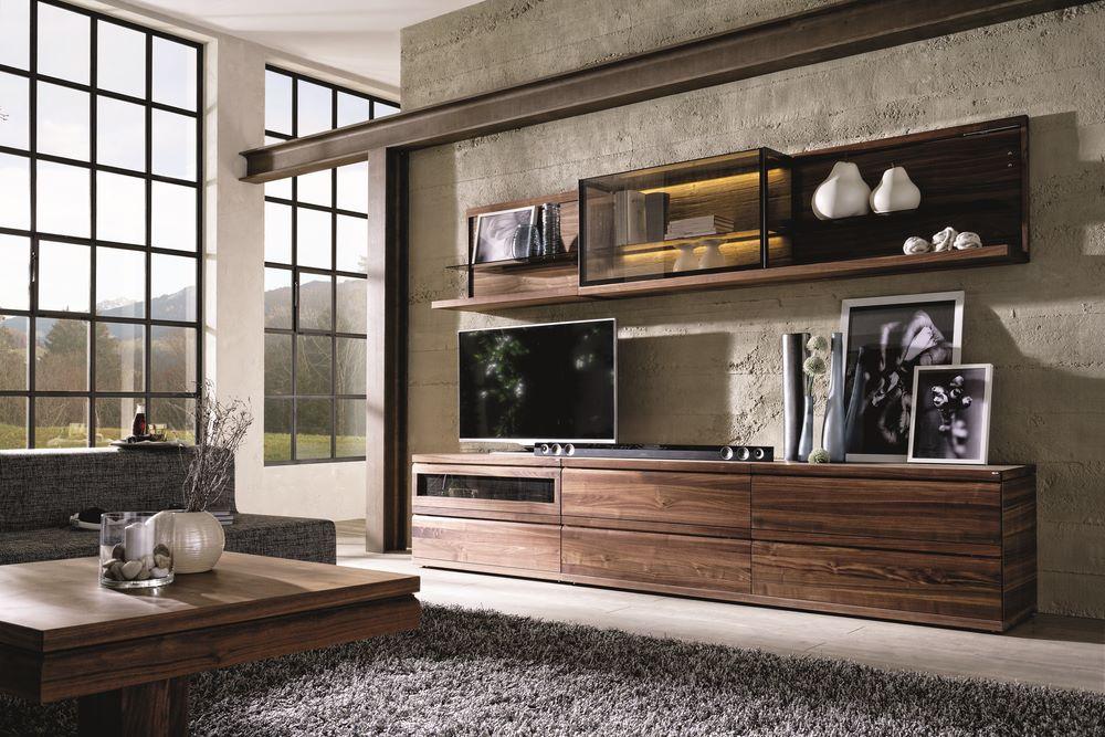Meuble TV design de luxe  Meuble tl  hifi haut de gamme en noyer ou chne