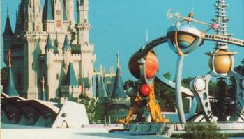 monorail postcard walt disney world