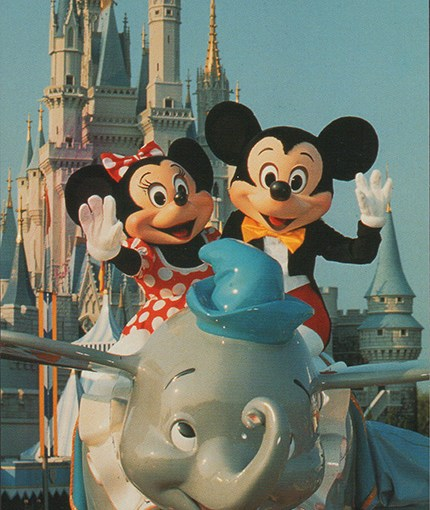 You Can Fly: Dumbo, Mickey and Minnie Postcard