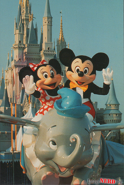 you can fly magic kingdom dumbo postcard Disney