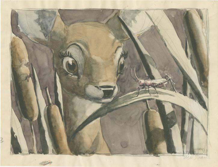 Mel Shaw, visual development for Bambi, c. 1942.