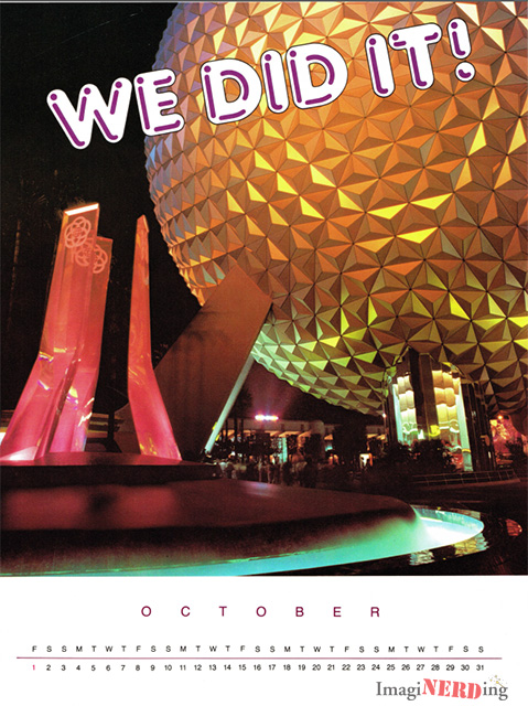WED EPCOT Center Countdown Calendar