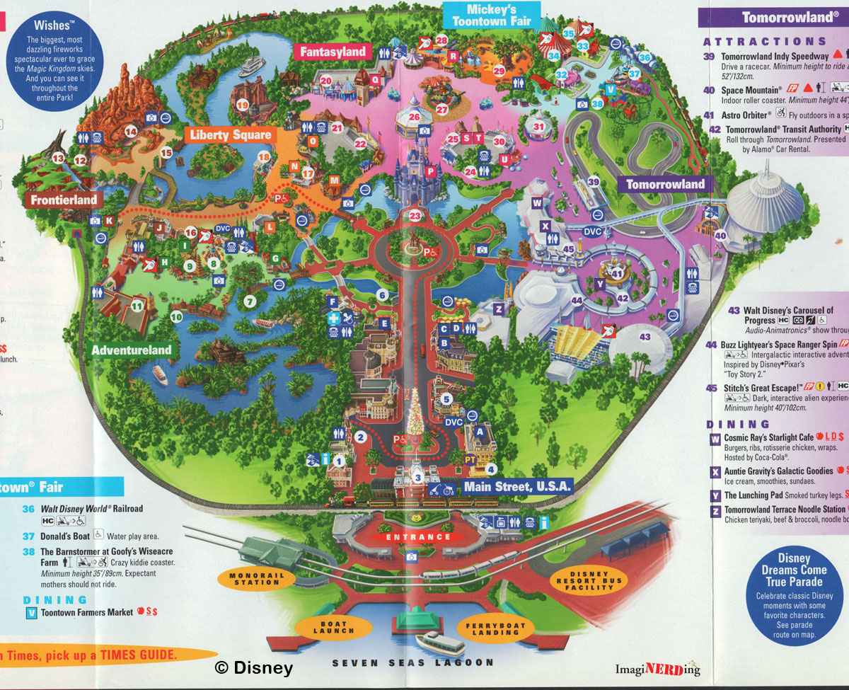 Magic Kingdom Maps Galore! - ImagiNERDing