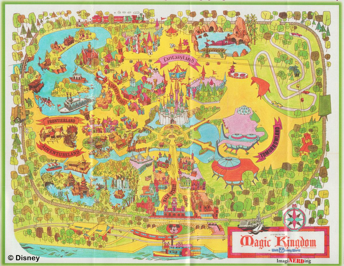 Magic Kingdom Maps Galore  ImagiNERDing