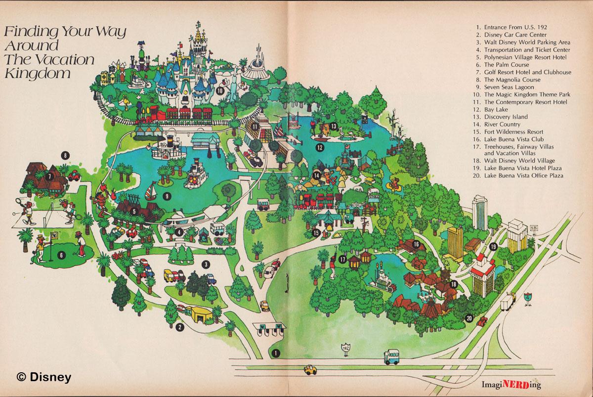 Magic Kingdom Maps Galore! - ImagiNERDing
